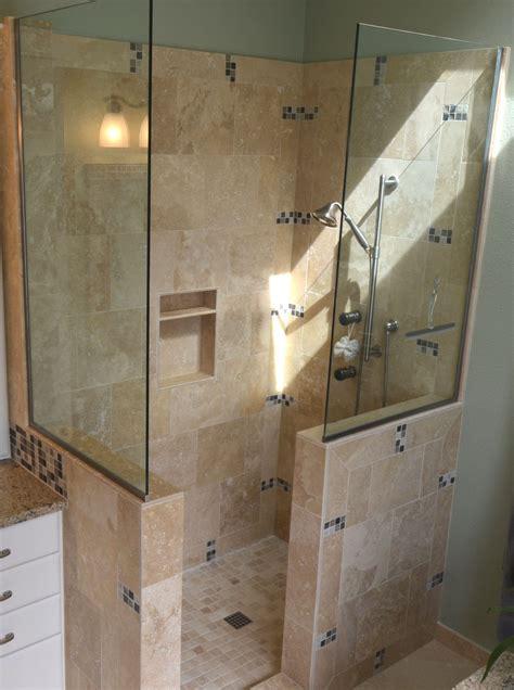 doorless walk in shower designs snail shell studio
