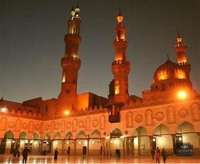 Mosque Azhar Al Cairo Egypt Travel Night
