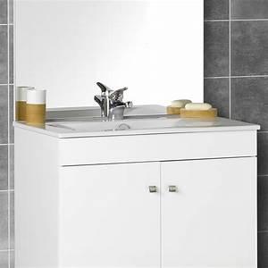 meuble de salle de bain simple vasque rouge et noi salle With meuble de salle de bain discount