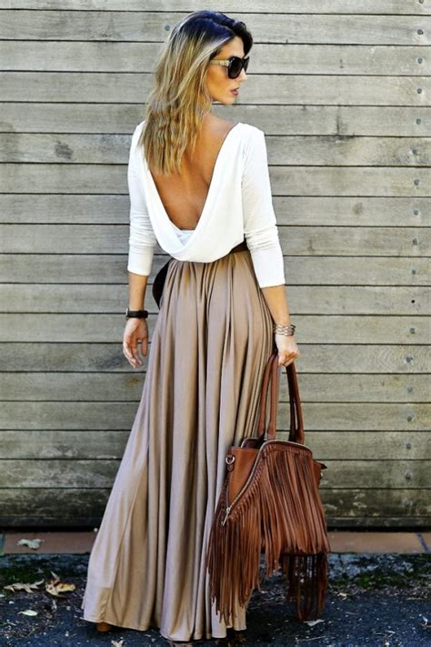 Long Skirts Done Right - Tips and Outfit Ideas - Be Modish