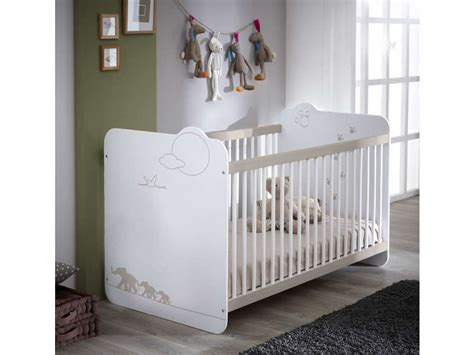 chambre complete bebe conforama lit bébé 60x120 cm jungle coloris blanc décor jungle