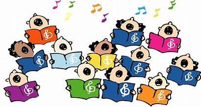 Choir Children Clip Singing Sing Childrens Christmas