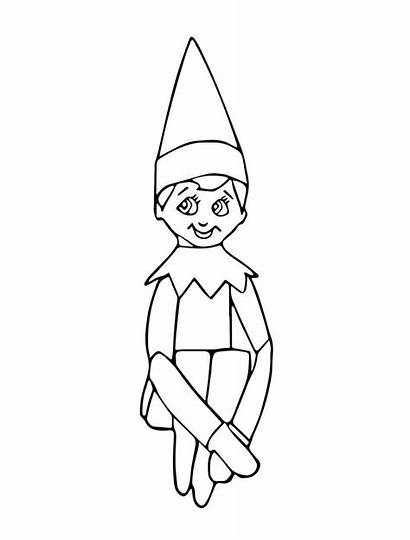 Elf Shelf Coloring Pages Printable Pdf Adults