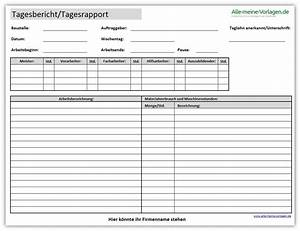 Tagesbericht oder tagesrapport alle meine vorlagende for Arbeitsprotokoll vorlage