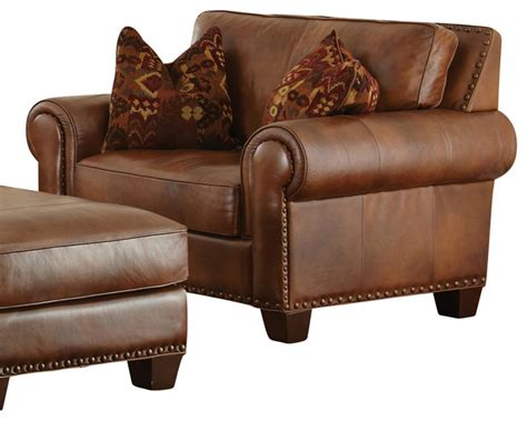 steve silver silverado chair in caramel brown leather