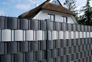 sichtschutz fur stabgitterzaun gamelog wohndesign With französischer balkon mit gartenzaun kunststoff grau