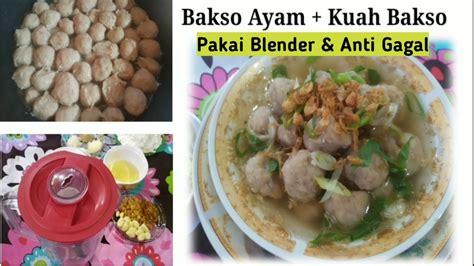 Tambahkan tepung terigu yang sudah dicampur dengan baking powder pada langkah pertama, diayak. RESEP BAKSO AYAM + KUAH GURIH CUMA PAKAI BLENDER DIJAMIN ...