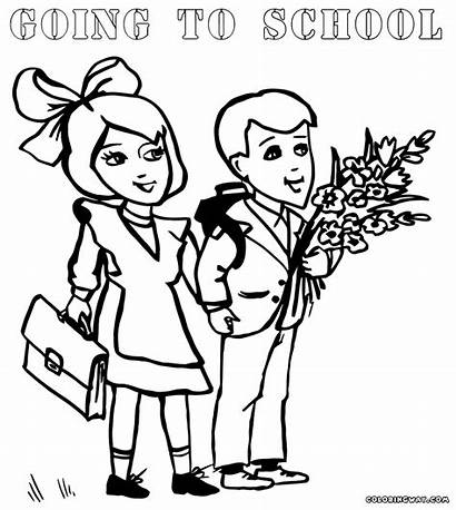 Coloring Pages Bag Schoolbag Bags Sheet Colorings