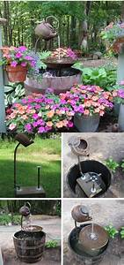 15, Stunning, Diy, Garden, Fountain, Landscaping, Ideas, And, Designs, 2020