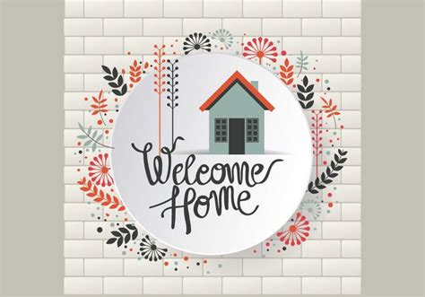 floral  home sign vector   vectors clipart graphics vector art