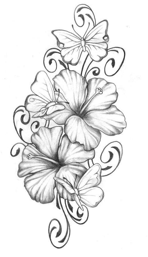 Hibiscus with butterfly | tats | Pinterest | Hibiscus, Butterfly and Tattoo