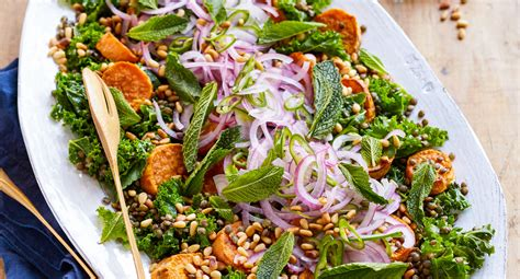 sweet potato green lentil salad better homes and gardens