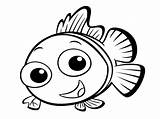 Fish Coloring Pages Toddlers sketch template