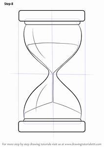 Learn How to Draw an Hourglass (Everyday Objects) Step by ...
