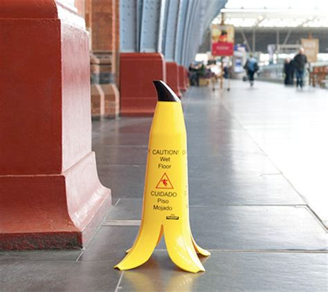 Banana Floor Sign by A And Creative Floor Sign That Is Shaped Like A
