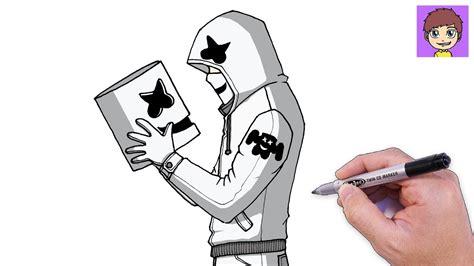 Como Dibujar a Marshmello Paso a Paso Dibujos para