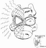 Ham Spider July Cerebus sketch template