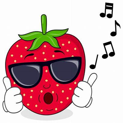 Strawberry Cool Sunglasses Cartoon Infused Whistling Sultanas