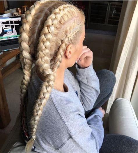 ideas  blonde braids  pinterest pretty