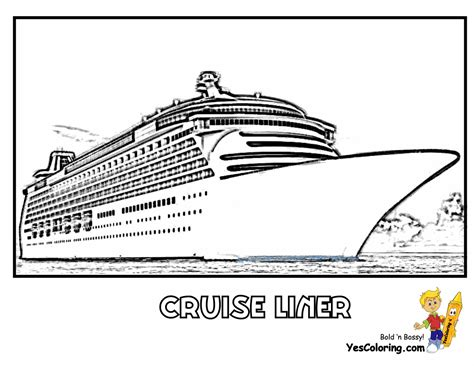 Cruise Ship Battleship Coloring Page Pictures To Pin On