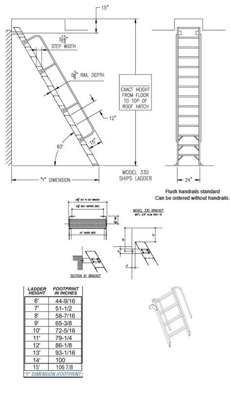 H60 – 60° Ships Ladder (Max 15') – Alaco Ladder Company