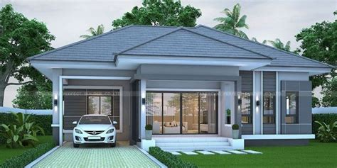 gray bungalow   bedrooms pinoy eplans