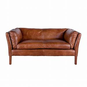 Retro Sofa 2 Sitzer : charme de provence bellamy ledersofa 2 sitzer vintageleder von flamant ~ Bigdaddyawards.com Haus und Dekorationen