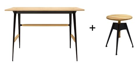 bureau portable bureau portable atelier moleskine tabouret bois noir