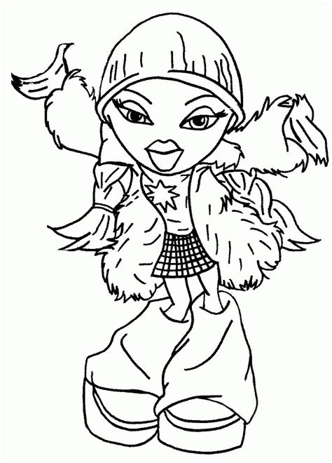printable bratz coloring pages coloring home