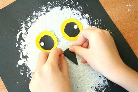 owl preschool craft snowy owl winter craft for fantastic amp learning 429