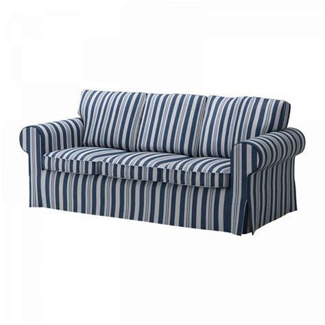 nautical sofa covers ikea ektorp 3 seat sofa cover slipcover abyn blue white