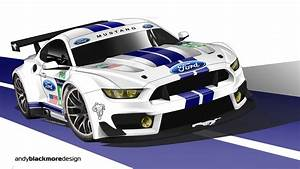 What if? Ford Mustang GT350 GTE race car - Andy Blackmore Design
