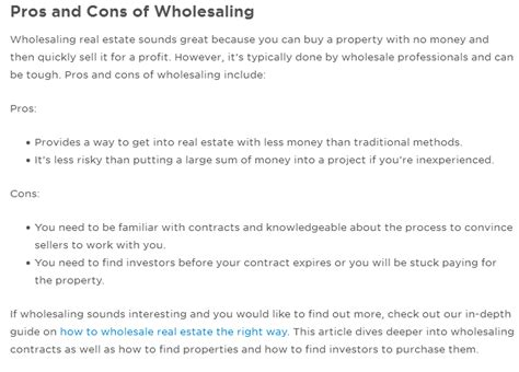 november  wholesale real estate