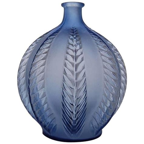 navy blue vase navy blue glass vase malines by ren 233 lalique for at