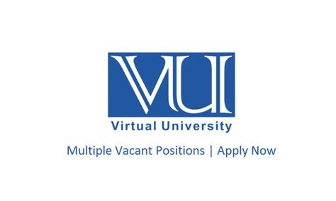 virtual university lahore pakistan jobs march
