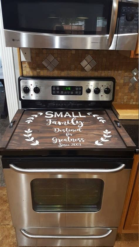 custom stove top cover farmhouse rustic stove cover thick