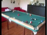 how to make a pool table Home made pool table, first test - YouTube