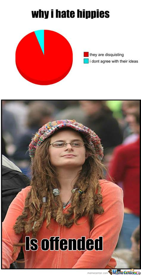Hippie Chick Meme - rmx hate hippies by zoey meme center