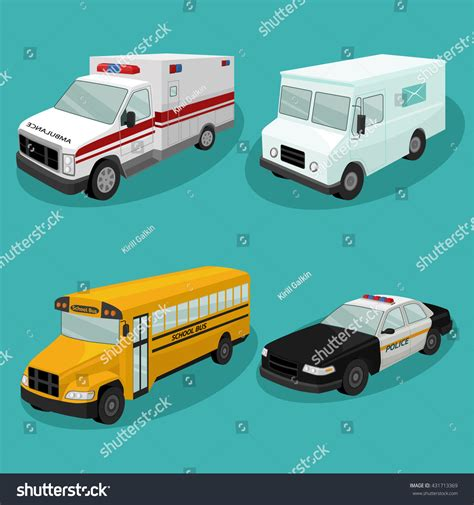 Emergency Services Cars.vector Illustration Of Different