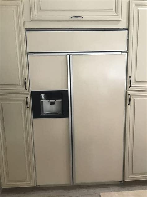 monogram fridge turn  water    ge monogram refrigerator water  collecting