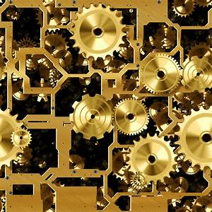 Another Gold or Brass Cogs and Gears Seamless Background ...