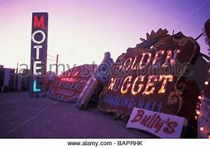 Neon Sign Graveyard Las Vegas Nevada Stock Royalty