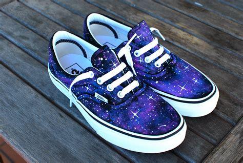 Vans Shoes : Custom Galaxy Vans Era Shoes By Bstreetshoes On Etsy
