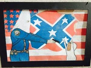 Student's Artwork in City Building Depicts Cop in KKK Hood ...