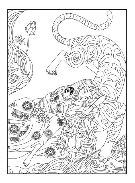 japan tiger celine japan adult coloring pages