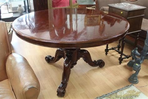 gabrielle table l antique circular snap top dining table on turned 1148