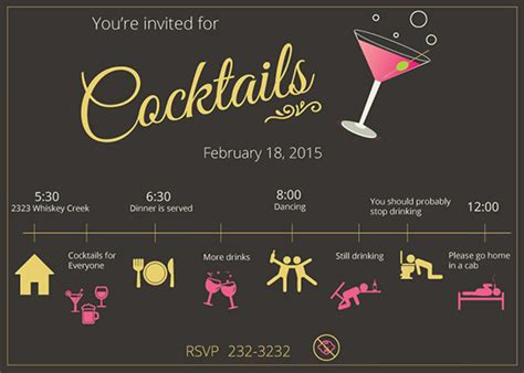 stunning cocktail party invitation templates designs