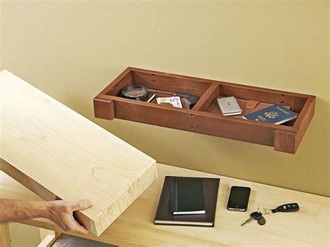 hidden compartment wall shelf woodworking plan