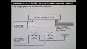 How To Wire A Positive Type Door Locking System With Car Alarm - Outputs