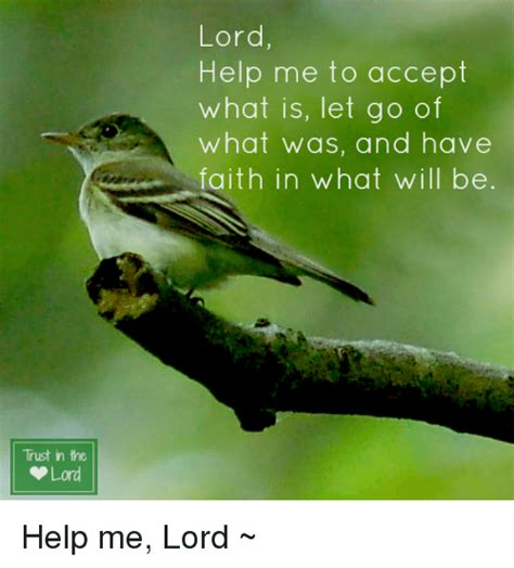 Lord Help Me Meme - trust in the lord lord help me to accept what is let go of what was and have faith in what will